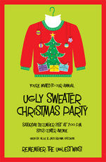 Ugly Sweater Invitations