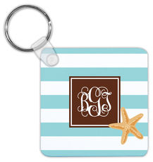 Starfish Stripe Key Chain
