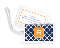 Navy Bristol Tile Luggage Tags