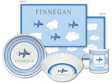 Airplane 4-Piece Dinnerware Set