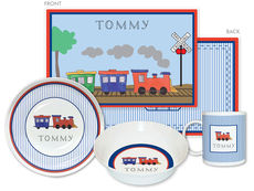 All Aboard 4-Piece Dinnerware Set