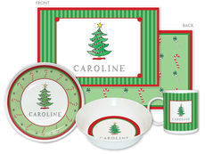 Christmas Tree 4-Piece Dinnerware Set