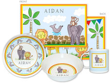 Zoo Friends 4-Piece Dinnerware Set