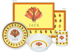 Tom Turkey 4-Piece Dinnerware Set