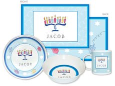 Menorah 4-Piece Dinnerware Set