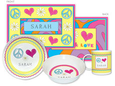 Peace Love Eat 4-Piece Dinnerware Set