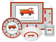Firetruck 4-Piece Dinnerware Set