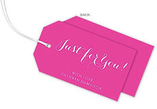 Hot Pink Horizontal Little Hanging Gift Tags