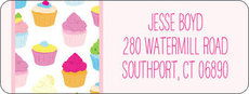 Cupcakes Return Address Labels