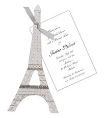 Eiffel Tower Die-cut Invitations
