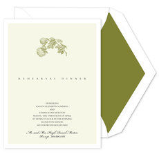 Green Hydrangea Invitations