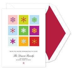 Bright Snowflakes Holiday Cards