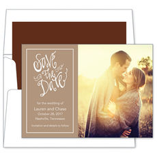 Mocha Save the Date Photo Cards