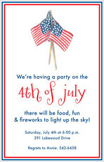 July Flags Invitations