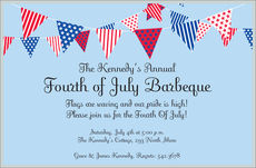July Banner Invitations