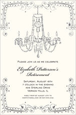 Vintage Chandelier Invitations