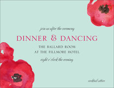 Painted Poppies Reception Cards