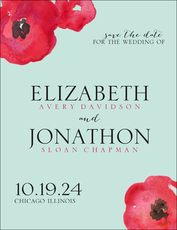 Painted Poppies Save the Date Cards