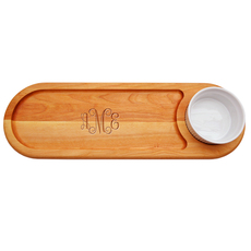 Script Monogram Dip & Serve Board