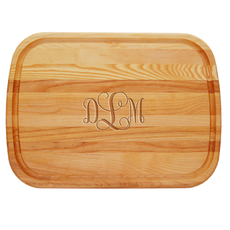 Script Monogram Large Cutting Board