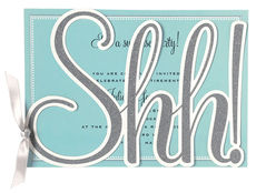 Shh! Glittered Die-cut Invitations