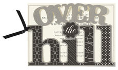 Over the Hill Die-cut Invitations