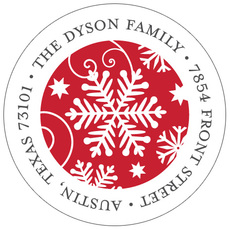 Frosty Flakes Round Address Labels