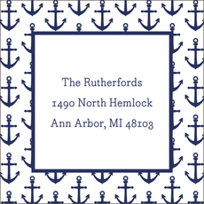Navy Anchors Check Stickers