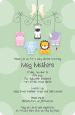 Sweet Animal Mobile Shower Invitations