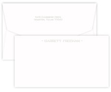 Triple Thick Embossed One Line Marquee Cards