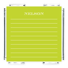 Lime Lined Memo Square with Acrylic Holder