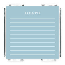 Light Blue Lined Memo Square with Acrylic Holder