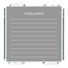 Gray Lined Memo Square with Acrylic Holder