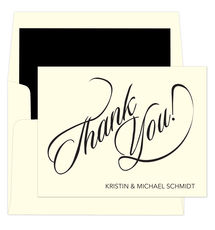 Calligraphy Thank You Note Cards