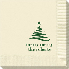 Artistic Christmas Tree Napkins
