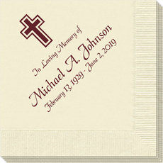 Memorial Napkins with Cross