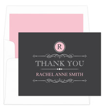 Pink Vintage Thank You Note Cards