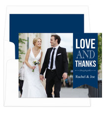 Navy Love and Thanks Note Cards