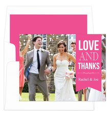 Raspberry Love and Thanks Note Cards