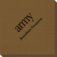 Big Word Army Napkins