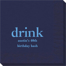 Big Word Drink Napkins