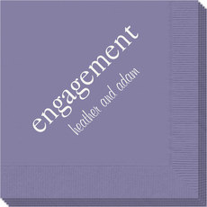 Big Word Engagement Napkins
