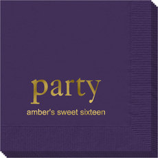 Big Word Party Napkins
