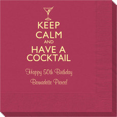 Keep Calm and Have a Cocktail Napkins