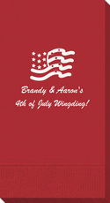 American Flag Guest Towels