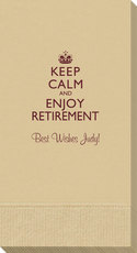 Keep Calm and Enjoy Retirement Guest Towels
