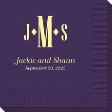 Condensed Monogram with Text Napkins