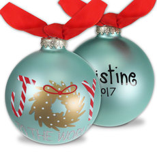 Joy to the World Glass Christmas Ornament