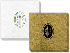 Outlined Oval Monogram Carte Napkins