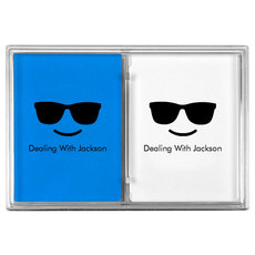 Sunglasses Emoji Double Deck Playing Cards